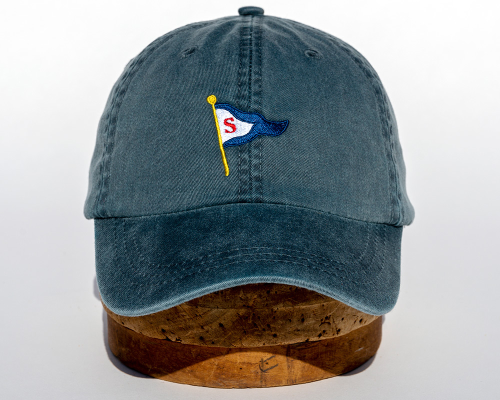Denim blue soft cap