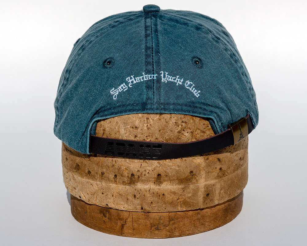 Denim blue youth hat back view