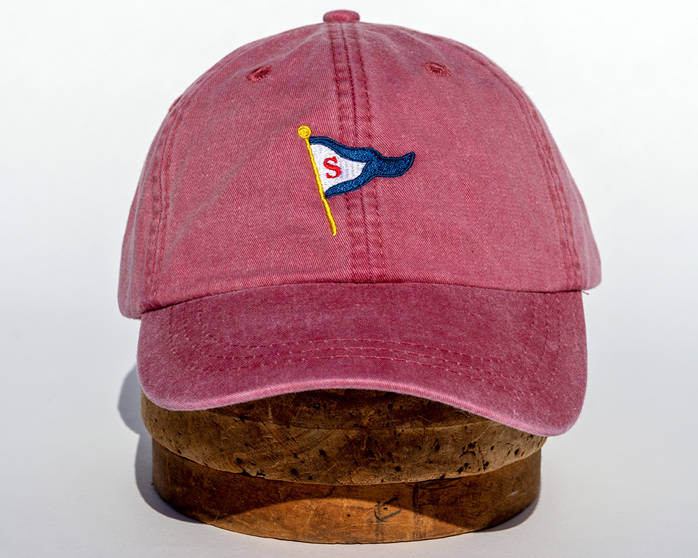 Nantucket red soft cap
