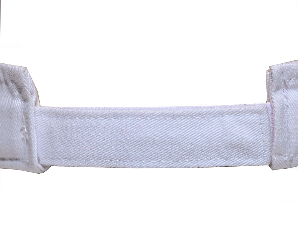 White colored Visor back closure