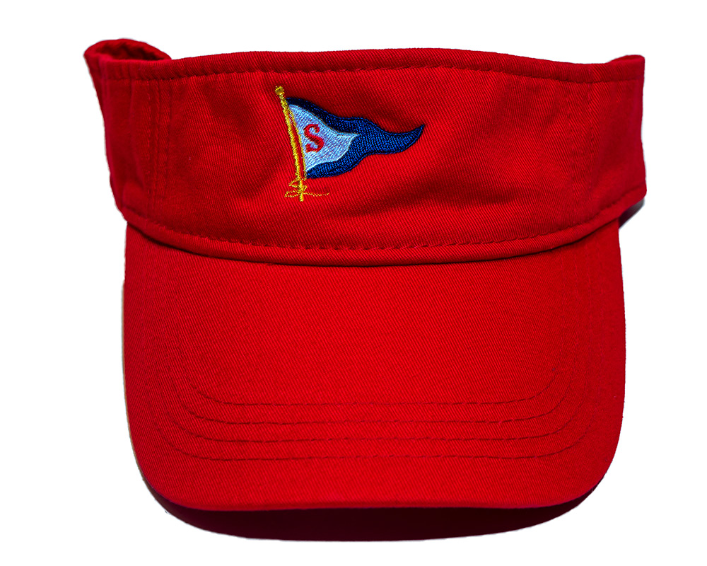 Red colored Visor